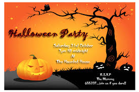 halloween background flyer kids costume party birthday invitation blue or orange chevron