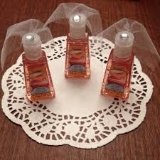 Bridal Shower Decoration Ideas by Hand Sanitizer With Little Tule Veils For Bridal Shower Favors So