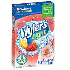 wyler s light singles to go nutritional information bulk wyler s light strawberry lemonade singles to go 10 ct packs