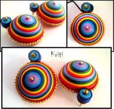 earrings paper paper quilling jhumka designs by kriti handmade jewelry chilli