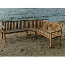Teak Sectional Patio Furniture by Outdoor Teak Sectional Wayfair