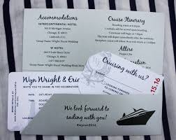 Boarding Pass Wedding Invitations Navy Silver U0026 White Chicago Skyline Yacht Cruise Boarding Pass