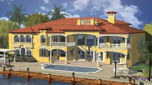 house plans waterfront mediterranean waterfront house plans open floor house
