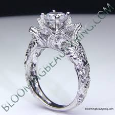 rose rings images Blooming rose engagement ring collection unique engagement rings png