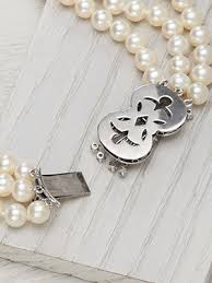 necklace clasps vintage images Three strand vintage pearl necklace with diamond clasp nk 1527 jpg