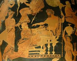 agamemnon on his throne iv ancient greek vases pinterest