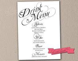 menu templates microsoft word heart wedding menu template