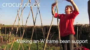 how to make an u0027a u0027 frame bean support youtube