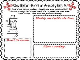 long division error analysis by teaching with a mountain view tpt