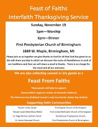 interfaith thanksgiving service everybody s church website