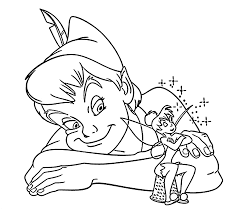 peter pan tinkerbell coloring pages kids printable free
