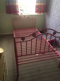 girls iron bed girls single pink iron bed in wickford essex gumtree