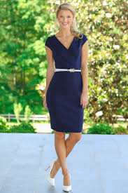 navy dress perfect for work dress must have white belt