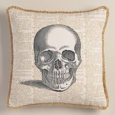 halloween pillow skull halloween throw pillow world market