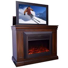 conestoga electric fireplace tv lift cabinet