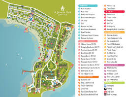 St Lucia Map St James U0027s Club U0026 Resort Antigua Caribbean Luxury Resorts