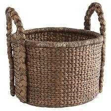 Basket Ottoman by Carson Espresso Wicker Round Large Basket Pier 1 Imports