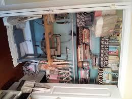sewing closet sacramento work studio makeover pinterest