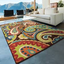 Lime Green Outdoor Rug Orian Rugs Paisley Monteray Multi Colored Area Rug Walmart Com