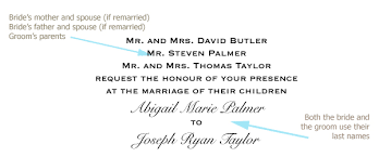 Words For A Wedding Invitation How To Word Your Wedding Invitations How To Include Parents