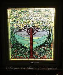 mini stained glass ls amazon com fancy fix decorative window film vinyl no glue privacy