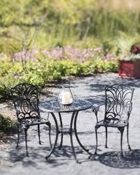 Aluminum Bistro Table And Chairs 3 Tulip Bistro Table Set Cast Black Aluminum Gardeners
