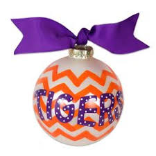 clemson tigers large dot ornament clemson clemson