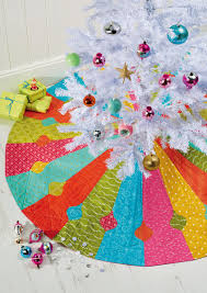 patchwork christmas tree skirt christmas lights decoration