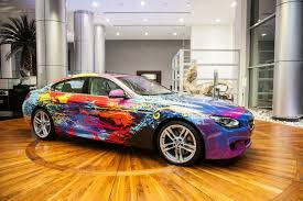 bmw 6 series gran coupe painted like a bmw art car