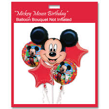 deliver balloons nyc mickey mouse birthday mylar balloon bouquet not inflated