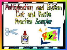 free multiplication and division cut and paste sampler by jane