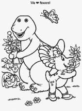 free printable barney coloring pages kids coloring