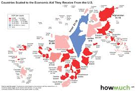 Colombia World Map by Scaled World Map Of U S Foreign Aid Libertyclick Org