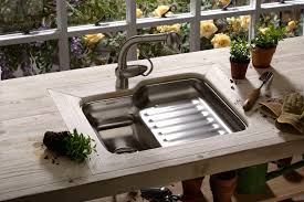 Artisan Sink Grid by Kitchen Sinks Awesome Outdoor Kitchen Sink Elkay Low Divide