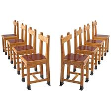 nautical chairs set of eight nautical chairs in oak for sale at 1stdibs