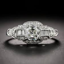 92 carat platinum and diamond late art deco engagement ring