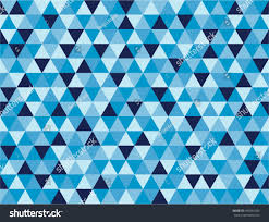 Blue Shades Seamless Triangle Background Pattern Shades Blue Stock Vector
