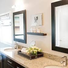 Espresso Bathroom Mirrors Espresso Dual Vanity Design Ideas