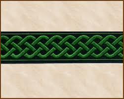 ribbon trim knotwork medium 13 16 inch black emerald green jacquard