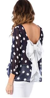 Blouse With Big Bow Polka Dot Bow Back Blouse Pinterest Clothes