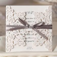 Engagement Invitations Card Aliexpress Com Buy 25pcs White Wedding Invitations Card Laser