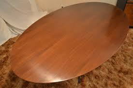 8 Foot Conference Table by Florence Knoll Oval 8 Foot Dining Conference Table At 1stdibs