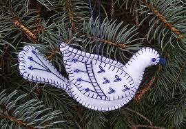 dove ornament bird ornament blue and white dove ornament