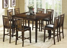 counter height dining set modern table 8 seater small round