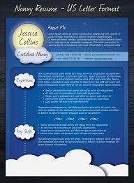 Resume Creative Template Nanny Cv Template Useful Pinterest Cv Template Creative