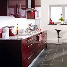 Bright Colored Kitchens - burgundy color kitchen cabinets modern kitchen with maroon