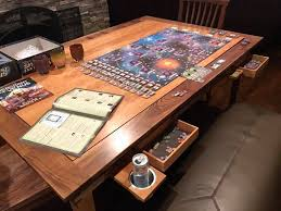 geek chic gaming table the standard vanguard gaming and dining table walnut and cherry