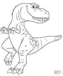 ramsey from the good dinosaur coloring page free printable