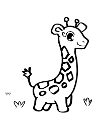 cute baby giraffe coloring page animal pages of kidscoloringpage