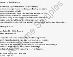 Sle Resume by Resume Resume Bank Teller No Experience Awesome Resume For Bank